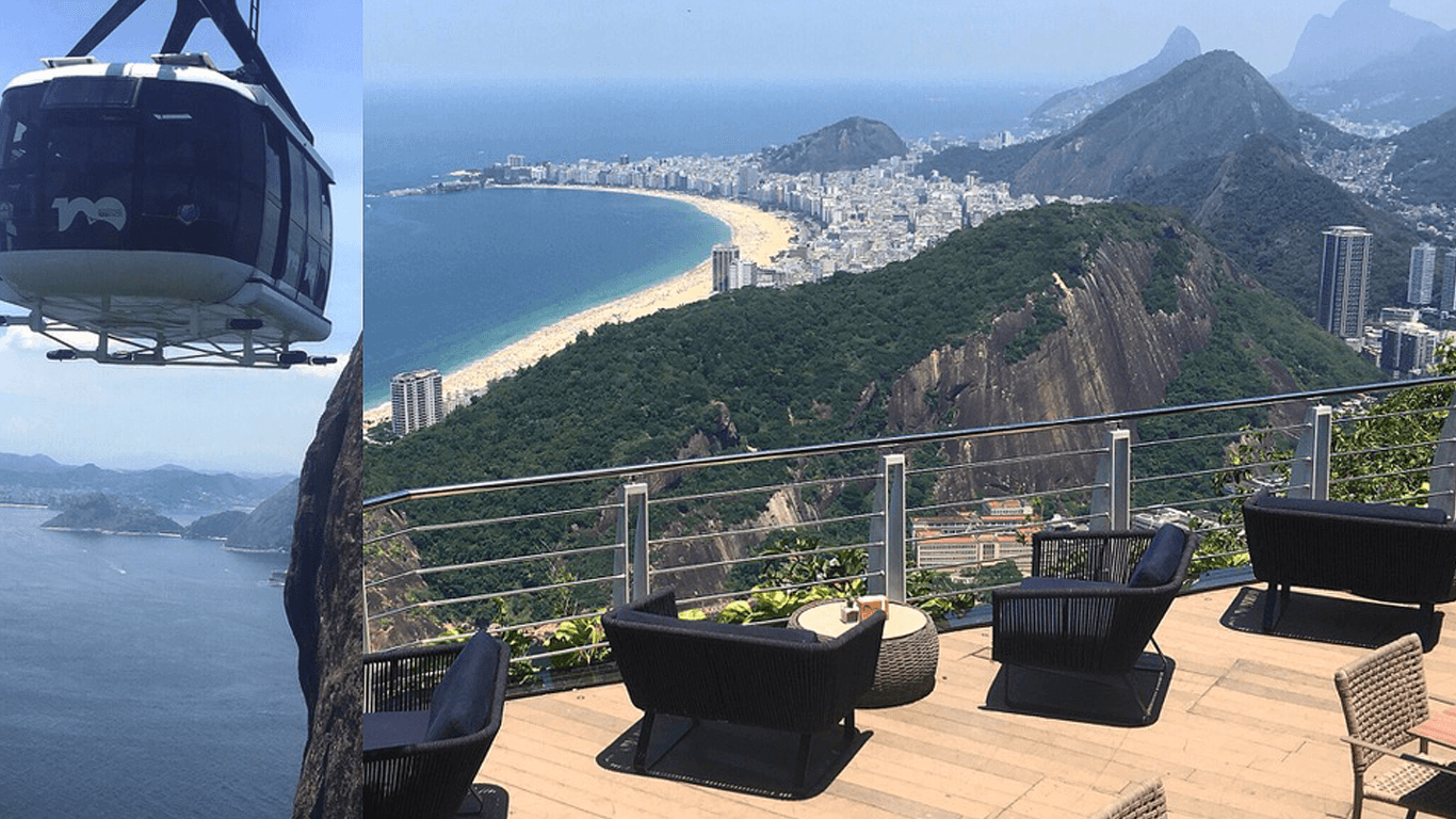 A private cabin to climb the Pão de Açucar , followed by a pic nic at the top in an exclusive place