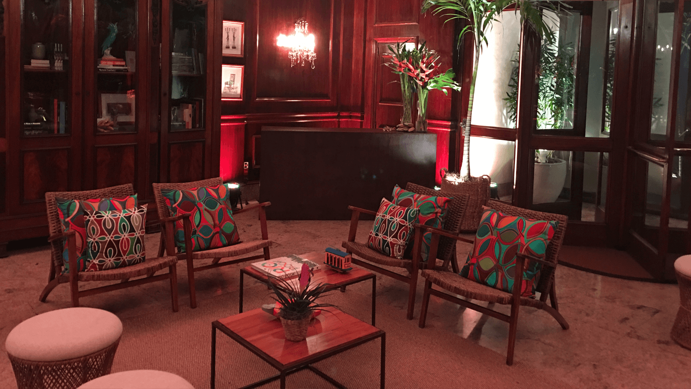 Exclusive tropical lounge for a hospitality event , Feb. 2018